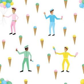 Retro Ice Cream Men