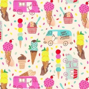 Every Day is Sundae (Cream background)