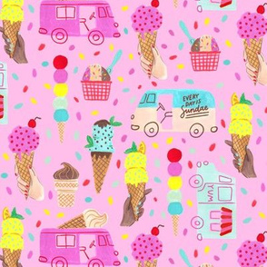 Every Day is Sundae (pink background)