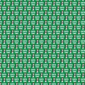 "(1/2"" scale) Santa Paws - Christmas dog - green - C20BS"