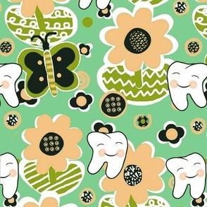 Blushing Peach Blooms / Spring-Summer Dental / Teeth-Smile Franbail