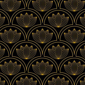 Water Lilies Art Deco
