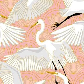 Herons Art Deco-Rose Quartz