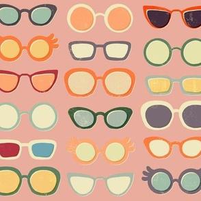 Retro Glasses on Pink