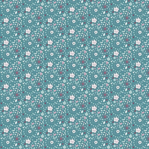 DITSY DOTTIES  blue 2