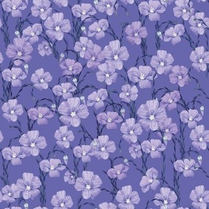 flax flowers pattern burgundy