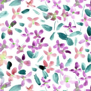 Lilav baby flowers - watercolor small florals for modern home decor bedding nursery