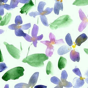 Large scale lilac flowers - watercolor small florals for modern home decor bedding nursery 315