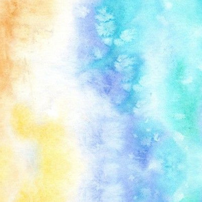 Maldives beach paradise - watercolor sea texture