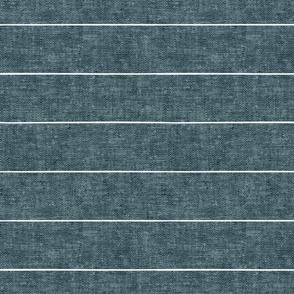 farmhouse stripes - stone blue - LAD20