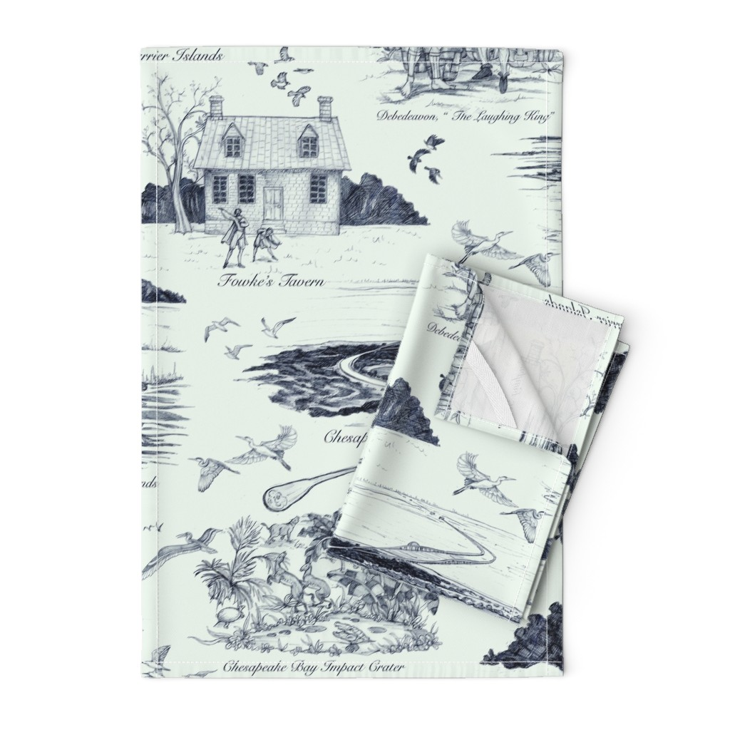 Orpington Tea Towels featuring The Eastern Shore of Virginia, a history in toile by ceanirminger
