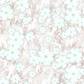 tropical floral soft  large scale