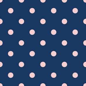Blue and Pastel Pink Dots