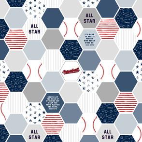 2 yard Baseball Panel (2 yds = 1 full panel)