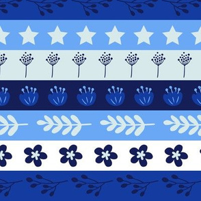 Maryam Stripes - Blue Lagoon