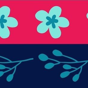 Maryam Stripes - Blueberry