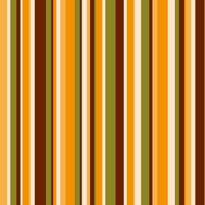 70s stripes brown orange retro Wallpaper Fabric