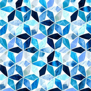 Marble Mosaic Sea Blues (Small Version)