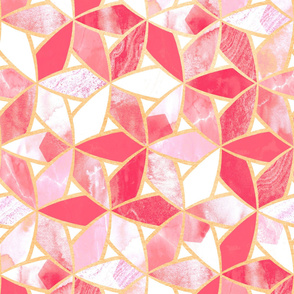 Blush Pink Marble Mosaic (Large Version)