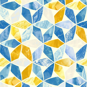 Mosaic Marble - Teal & Mustard (Large Version)