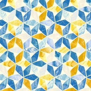 Mosaic Marble - Teal & Mustard (Small Version)