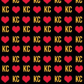kansas city love - red and yellow football colors