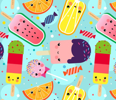 Kawaii Ice Cream Day Pattern