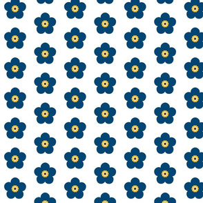 FORGET-ME-NOT blue on white