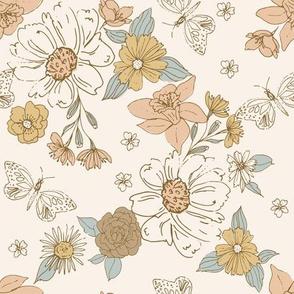 Daffodil Peach-9x9
