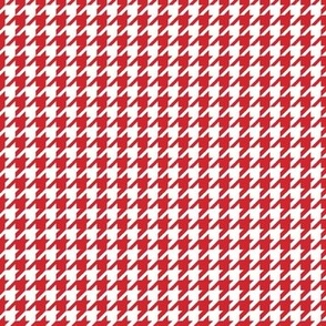 Classic Houndstooth in Red and White Paducaru