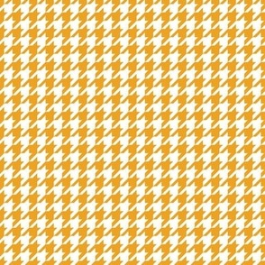 Classic Houndstooth in Saffron Yellow and White Paducaru