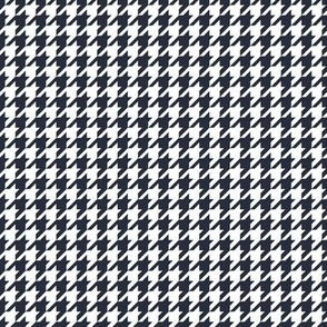 Classic Houndstooth in Deep Navy and White Paducaru