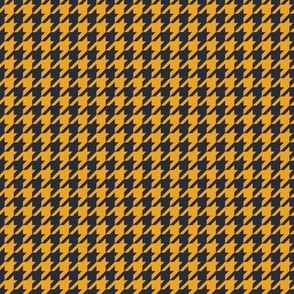 Classic Houndstooth in Navy and Saffron Paducaru