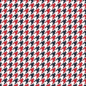 Classic Houndstooth in Red White Blue Paducaru