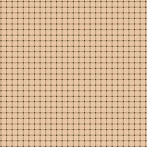 Peachy Brown Gingham-2x2