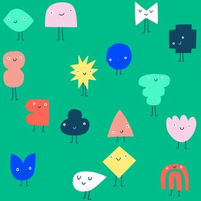 Crowd of shapes