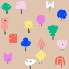 Crowd of shapes - desert