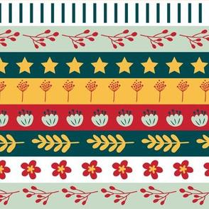 Maryam Stripes - Garden