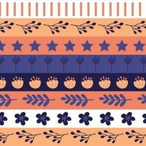 Maryam Stripes - Lavender Peach