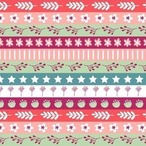 Maryam Stripes - Lemon Cherry
