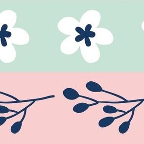 Maryam Stripes - Pastel Blue Pink