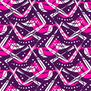Batik chic -pink purple