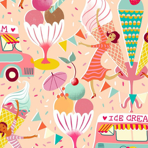icecream van vintage summer // large scale