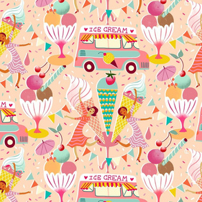 icecream van vintage summer // medium scale