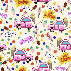 Ice Cream Truck vanilla ice cream