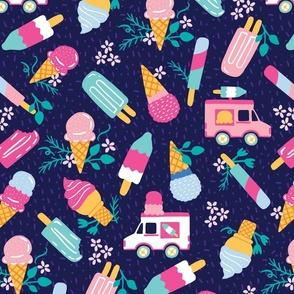 Ice Cream Truck Floral