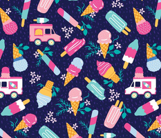 Ice Cream Truck Floral