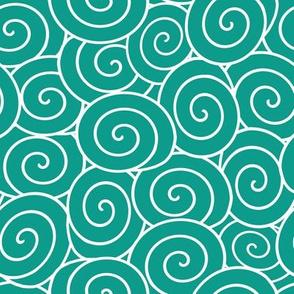 sweet rolls turquoise