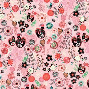 chicken doodles - pink