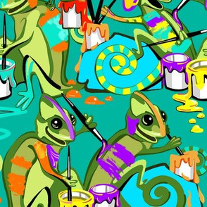 Chameleon Paint Party | Cool Green